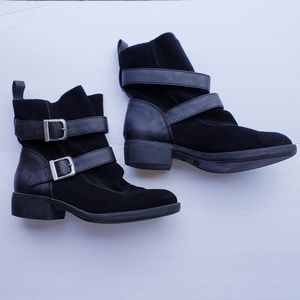 Mia ankle boots black suede 7